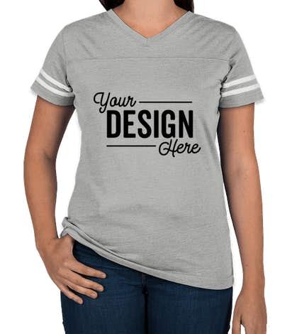 Lat Women S Varsity V Neck T Shirt