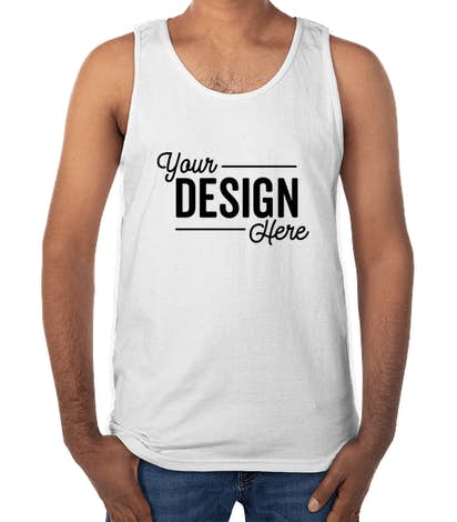 Design Custom Printed Gildan Ultra Cotton Tank Tops Online