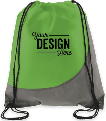 Promotional Non Woven Colorblock Drawstring Bag
