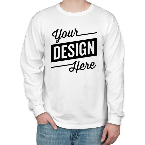 b2fa684478c Custom Jerzees 50 50 Long Sleeve T-shirt - Design Long Sleeve T ...