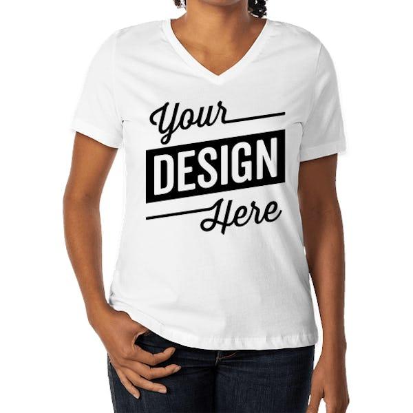 Bella Canvas Women S V Neck T Shirt
