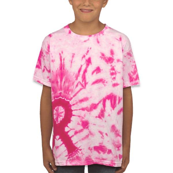 famoso marchio di stilisti bello e affascinante pensieri su Custom Dyenomite Youth Charity Ribbon Tie-Dye T-shirt - Design All ...