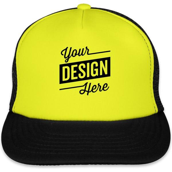 109bcb17d6e1c Custom District Neon Flat Bill Snapback Hat - Design Trucker Hats Online at  CustomInk.com