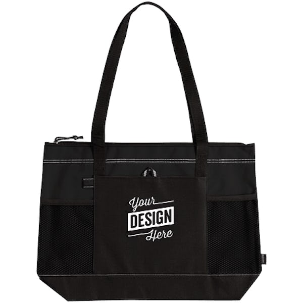 Large Multi Pocket Zippered Tote
