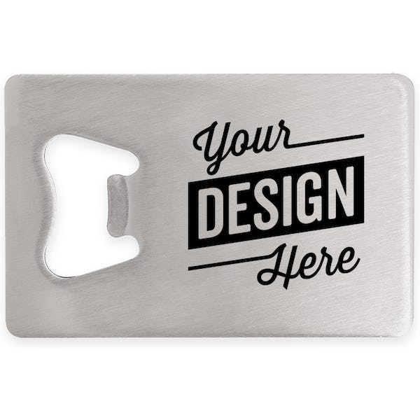 Design Custom Printed Stainless Steel Credit Card Size Bottle Openers  Online at CustomInk 52e5663ae0