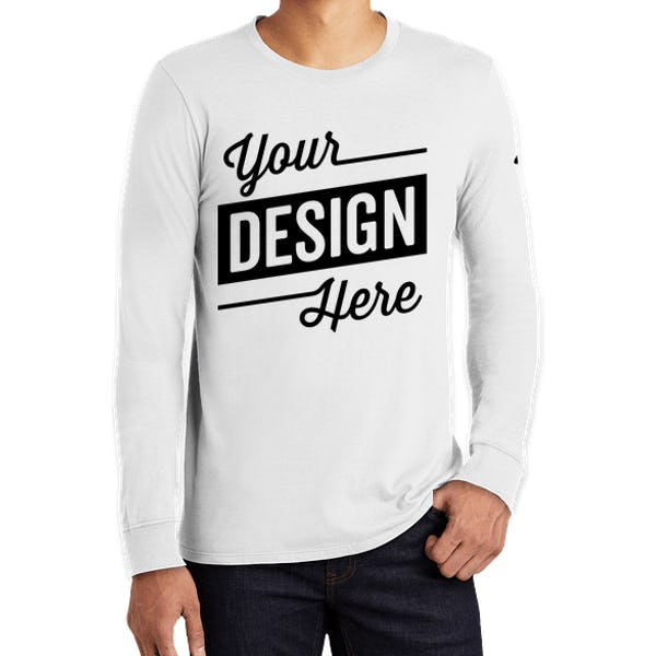 finest selection reasonable price limited quantity Nike 100% Cotton Long Sleeve T-shirt