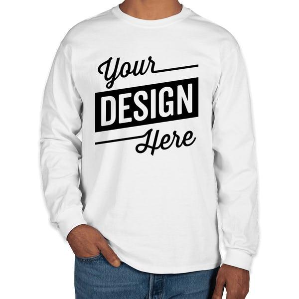 6c27b085955d Design Custom Printed Gildan Ultra Cotton Long-sleeve T-Shirts ...