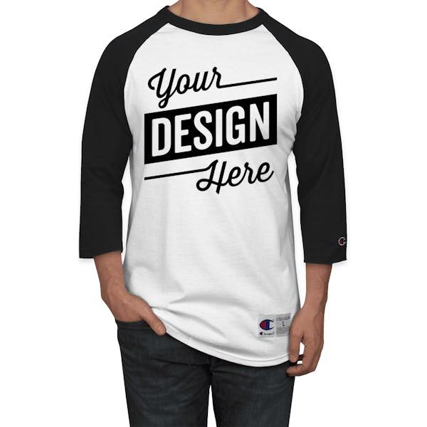 dc4d384c Design Custom Printed Champion Baseball Raglan Shirts Online at CustomInk